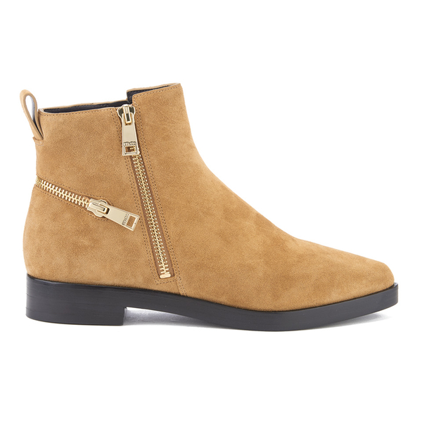 KENZO Women's Totem Flat Ankle Boots - Tan