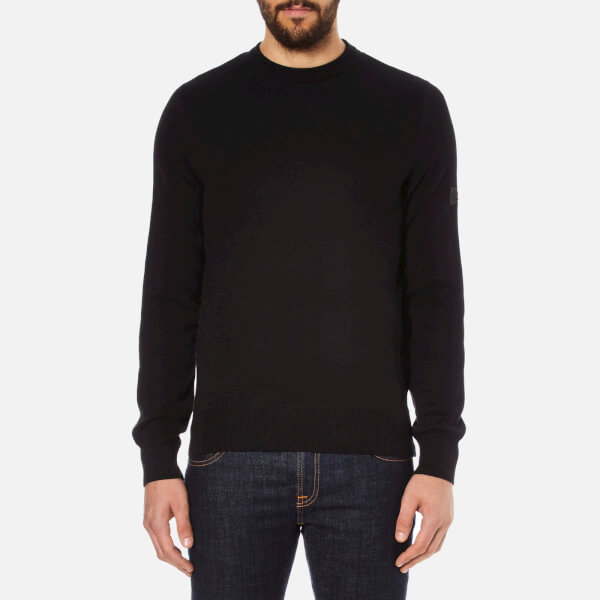 Barbour International Men's Throttled Crew Neck Knit Jumper - Black