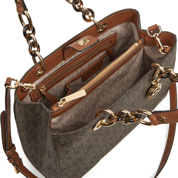 01c3910c659a MICHAEL MICHAEL KORS Cynthia Medium Satchel - Brown  Image 5