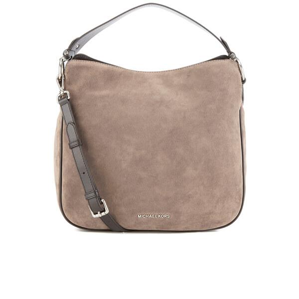 MICHAEL MICHAEL KORS Heidi Suede Shoulder Bag - Grey: Image 1