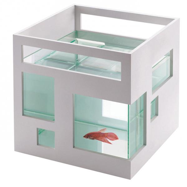 Umbra Fish Hotel Aquarium - White