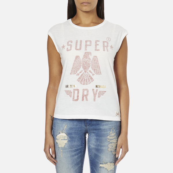 Superdry Women's Savanna Fringe T-Shirt - Winter White