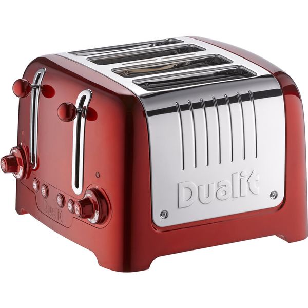 Dualit Lite 4 Slot Toaster Metallic Red Homeware