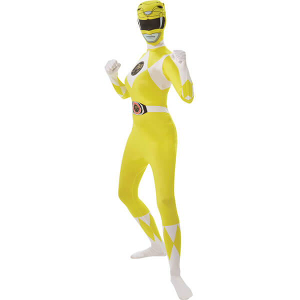 Power Rangers Women's 2nd Skin Yellow Ranger Fancy Dress