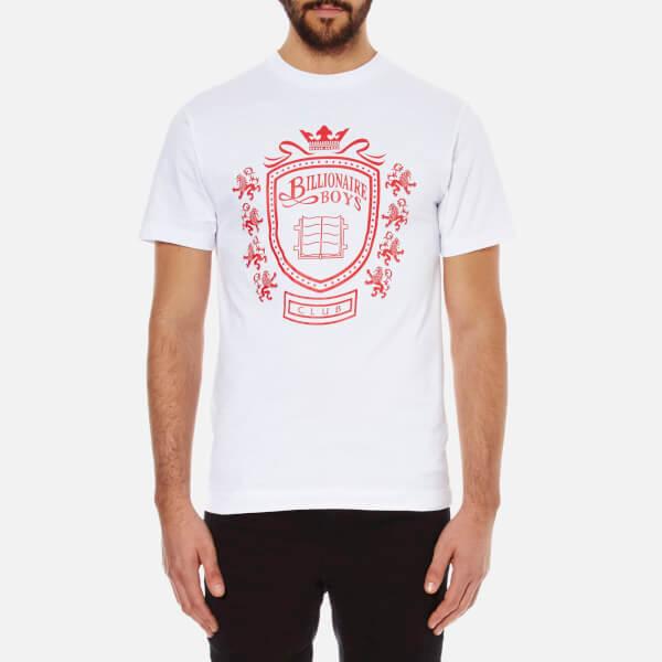 Billionaire Boys Club Men's Crest Crew Neck T-Shirt - White