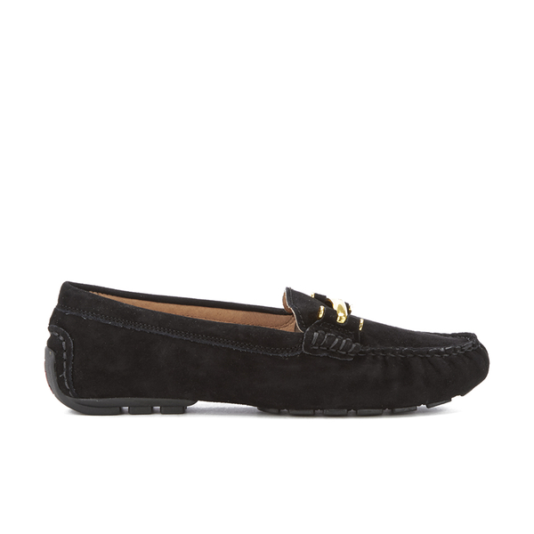 aec1cfa7a16 Lauren Ralph Lauren Women s Caliana Suede Loafers - Black  Image 1