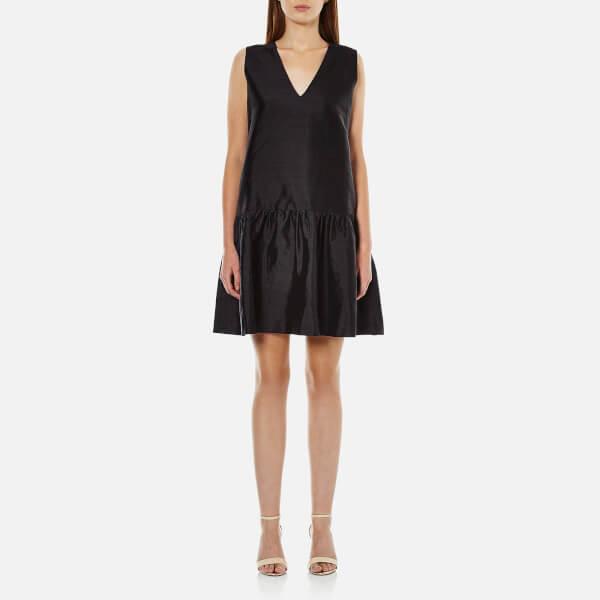 Ganni Women's Ima Silk Dress - Black