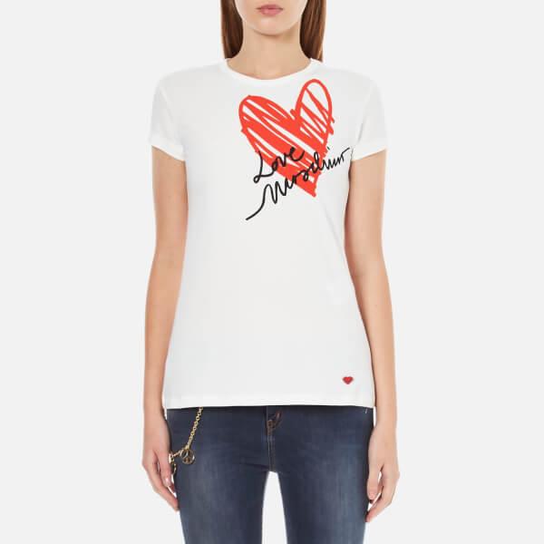 Love Moschino Women's Heart T-Shirt - White
