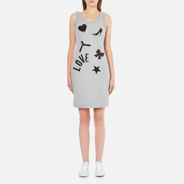 Love Moschino Women's Love Vest Dress - Grey