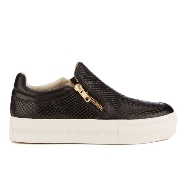 Ash Women's Jordy Puff/Nappa Wax Flatform Slip-On Trainers - Black