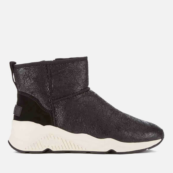Ash Women's Miko Shearling Lined Boots - Black/Black