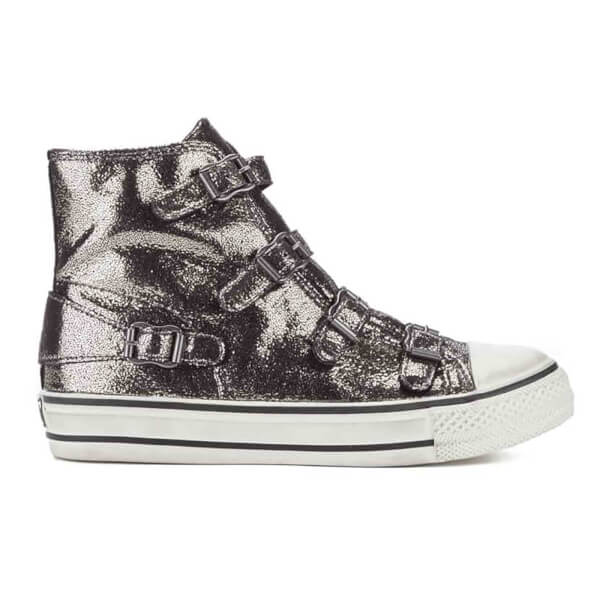 Ash Women's Virgin Shine Hi-Top Trainers - Piombo/Antic Gun