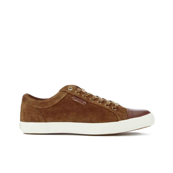 Polo Ralph Lauren Men's Geffrey Suede/Leather Trainers - Snuff/Polo Tan:  Image