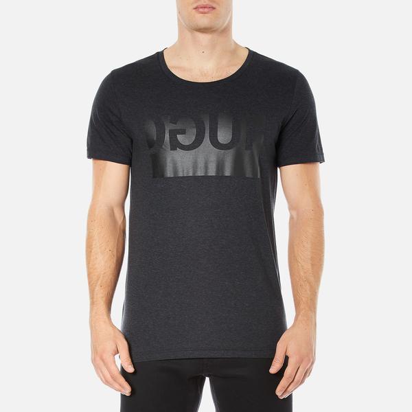 HUGO Men's Doguh Logo Crew Neck T-Shirt - Charcoal