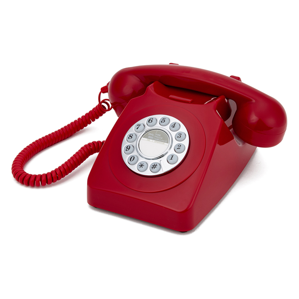 Gpo Retro 746 Push Button Telephone Red Electronics