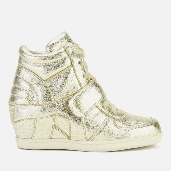 Ash Kids' Babe Metal Rock Wedged Hi Top Trainers - Platine