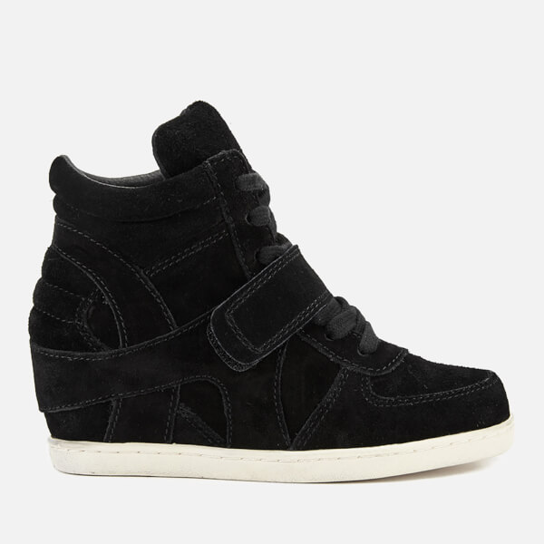 Ash Kids' Babe Suede Wedged Hi Top Trainers - Black