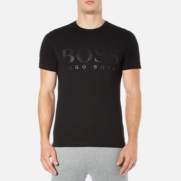 BOSS Green Men's Tee US Tonal Logo T-Shirt - Black