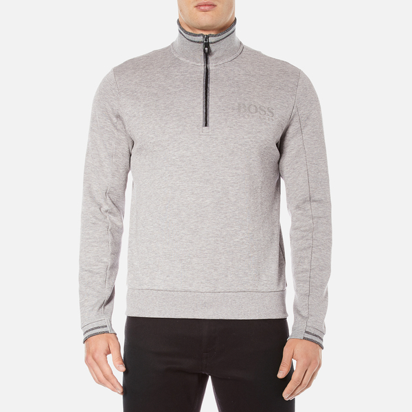 BOSS Green Men's Quarter Zip Sweatshirt - Grey
