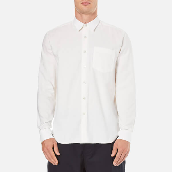 Our Legacy Men's Basket Weave Shirt - White