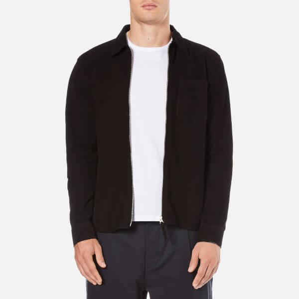 Our Legacy Men's Suede Zip Shirt - Black