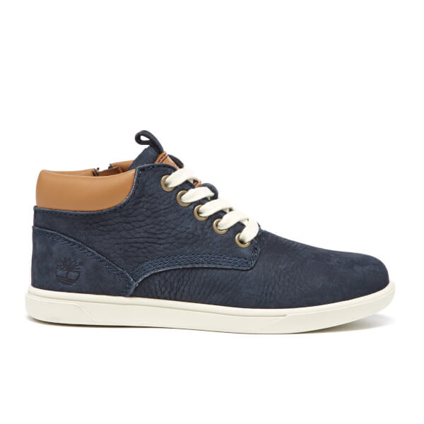 Timberland Kids' Groveton Leather Chukka Boots - Navy Blazer Barefoot Buffed