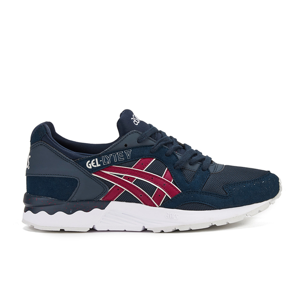 Asics Men's Gel-Lyte V Trainers - Indian Ink/Burgundy
