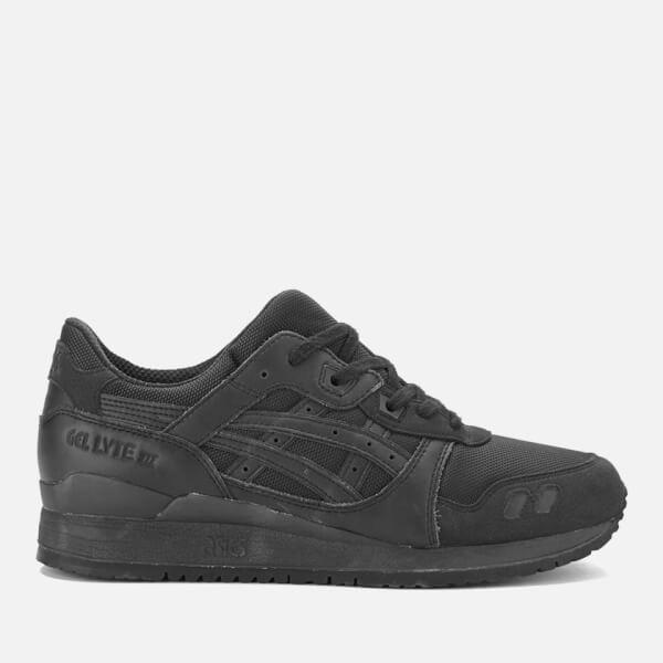 Asics Lifestyle Gel-Lyte III Leather Trainers - Black