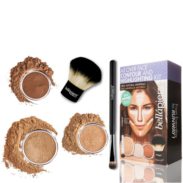 Kit Iluminador y Contour All Over Face de Bellapierre Cosmetics - Oscuro