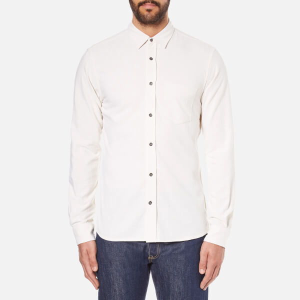 J.Lindeberg Men's Daniel Raw Silk Shirt - White