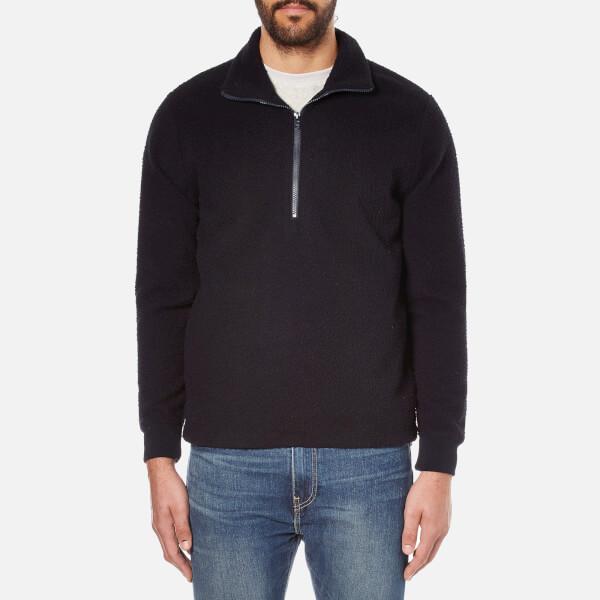 A Kind of Guise Men's Mani Zip Pullover Jumper - Black Navy