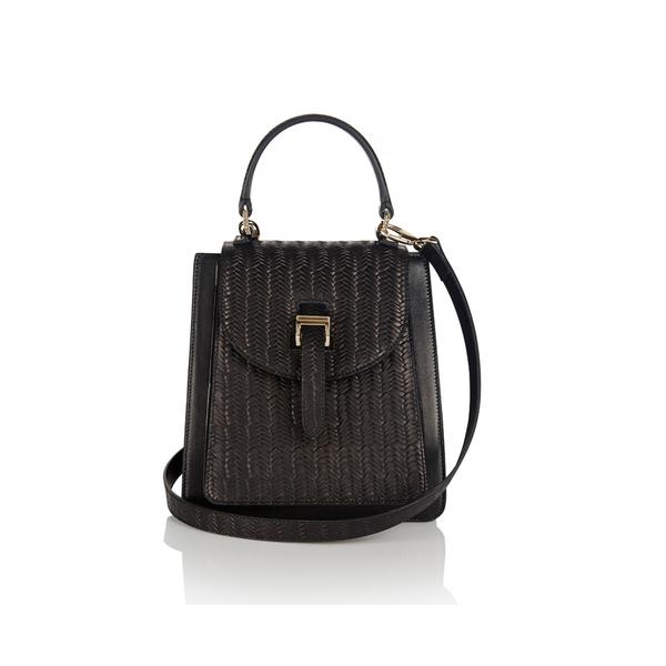 meli melo Women's Floriana Mini Woven Cross Body Bag - Black