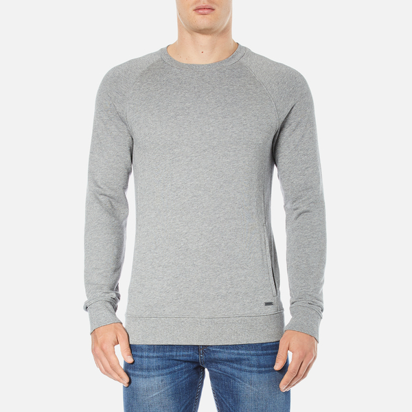BOSS Orange Men's Wheel Crew Neck Sweatshirt - Grey
