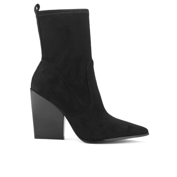 Kendall + Kylie Women's Felicia Suede Pointed Heeled Ankle Boots - Black