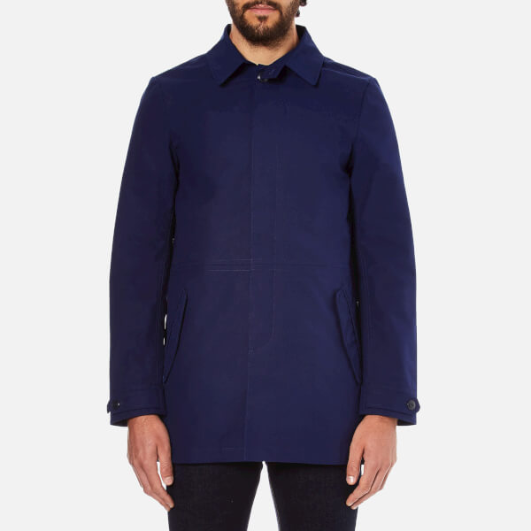 Scotch & Soda Men's Bonded Trench Coat - Midnight: Image 1