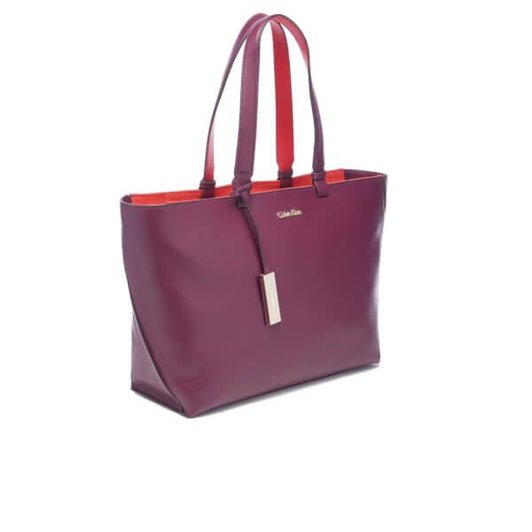 56f953043576 Calvin Klein Women s Julia Tote Bag - Bordeaux  Image 3
