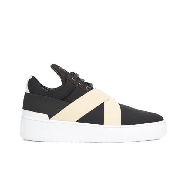 Filling Pieces Women S Bandage Low Top Trainers Black