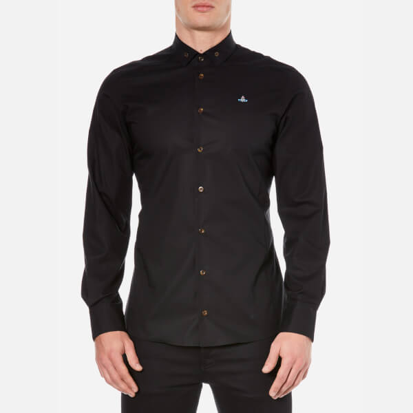 Vivienne Westwood MAN Men's Stretch Poplin Long Sleeve Shirt - Black