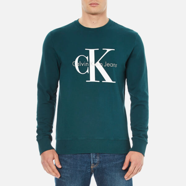 Calvin Klein Men's 90's Re-Issue Sweatshirt - Deep Teal