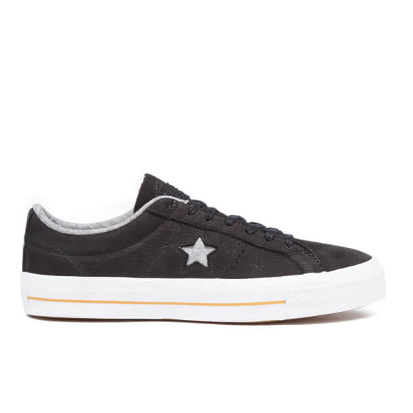 Converse Men's CONS Star Player Nubuck Trainers - Black/Ash Grey/Gum