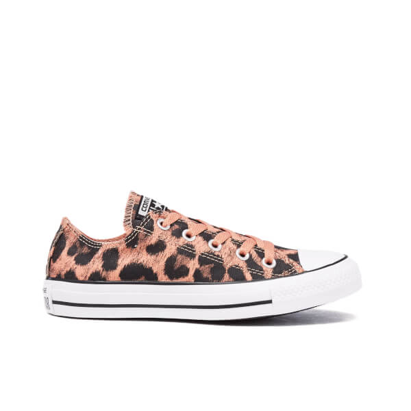 2039b191d1c5 Converse Women s Chuck Taylor All Star Animal Print OX Trainers - Pink  Blush Black