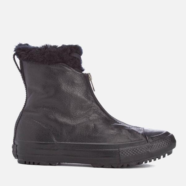76453a2c7c1d Converse Women s Chuck Taylor All Star Hi Rise Shroud Boots - Black  Monochrome  Image 1