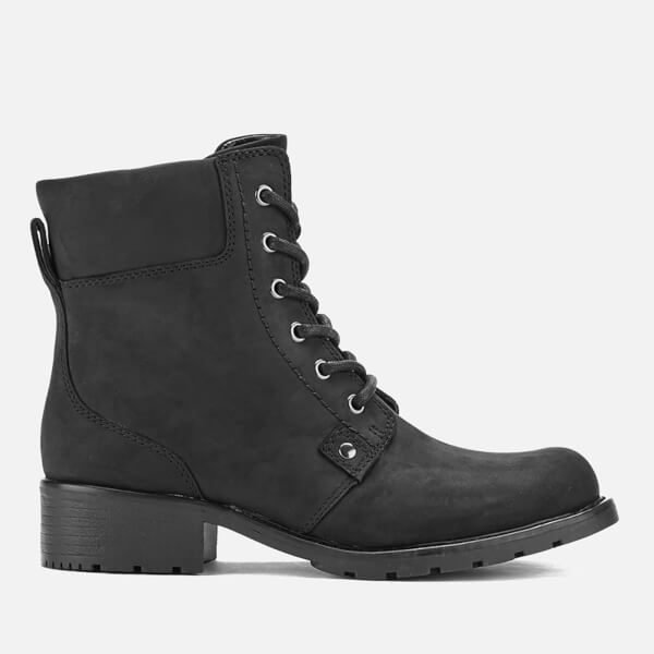 clarks s orinoco spice leather lace up boots black