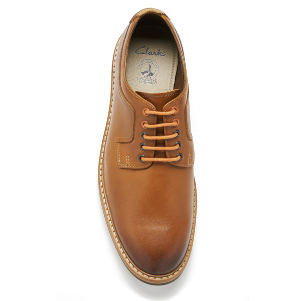 bc6800863 Clarks Men s Pitney Walk Leather Derby Shoes - Cognac  Image 3