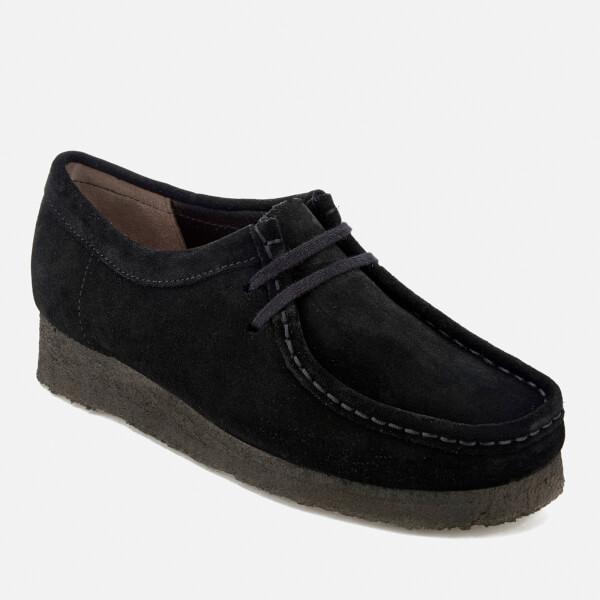 Clarks Originals Women s Wallabee Shoes - Black Suede  Image 2 e92ed471a4