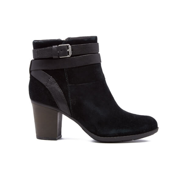Clarks Women's Enfield River Heeled Ankle Boots - Black