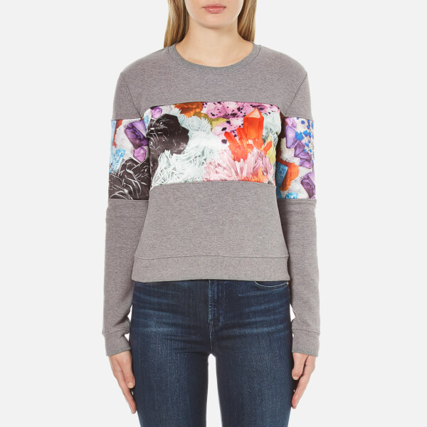Carven Women's Printed Sweatshirt - Grey