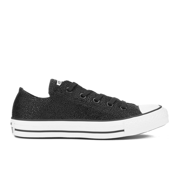Converse Women's Chuck Taylor All Star Sting Ray Leather Ox Trainers - Black/Black/White