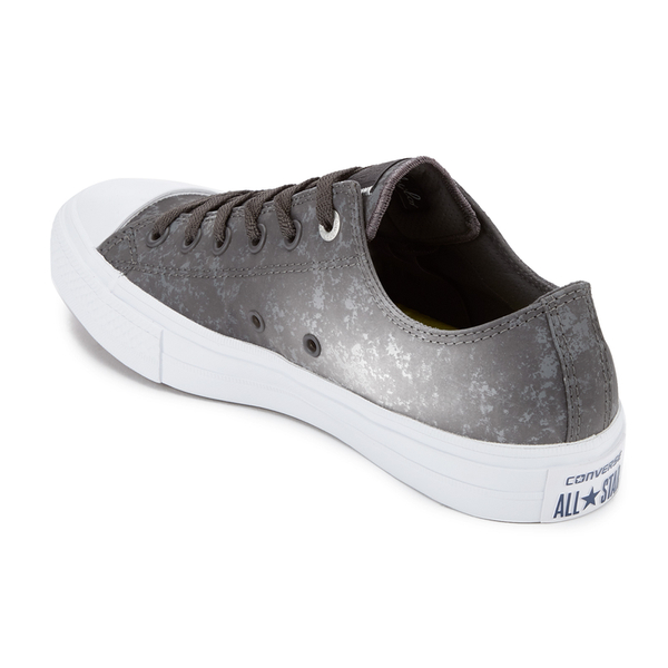 82b9053d67d9fa Converse Men s Chuck Taylor All Star II Reflective Wash Ox Trainers - Shale  Grey Pure