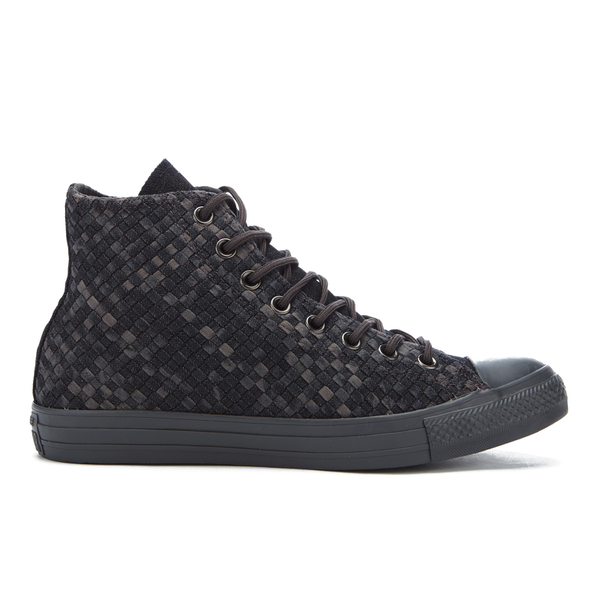 Converse Men s Chuck Taylor All Star Denim Woven Hi-Top Trainers - Black  Storm ce64e49bf